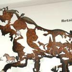 Eye Catching Joe Fafard Sculpture Uses Scrap Metal
