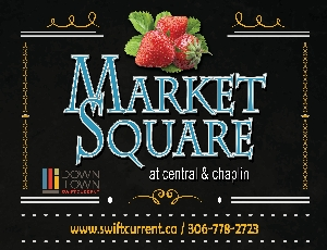 market square in swift current
